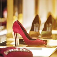 Women shoes in a luxury store