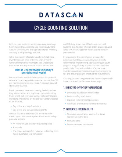 Cycle Counting Solution page 1
